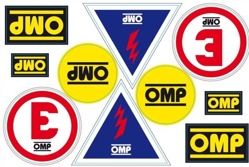 Zestaw naklejek OMP - GRUBYGARAGE - Sklep Tuningowy